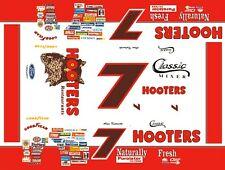 #7 Alan Kulwicki Hooters Thunderbird 1/32nd Scale Slot Car Decals