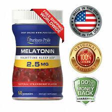 Puritan's Pride Melatonin Gummy 2.5 mg Strawberry Flavor Free Worldwide Shipping