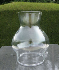 """Short Squat Glass Oil/Candle Lamp Chimney / Shade - 7cm 2 3/4"""" Fitter"""