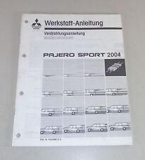 Werkstatthandbuch Nachtrag Elektrik Schaltpläne Mitsubishi Pajero Sport K90