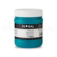 Turquoise - PROFESSIONAL Global Colours Fine Art Acrylic Impasto 500ml