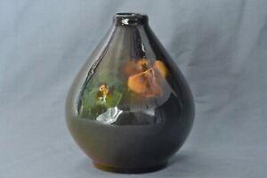 Weller Pottery 1896-1924 Louwelsa Pansies Beehive Vase #325
