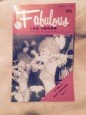Fabulous Las Vegas Magazine Milton Berle Phyllis McGuire Showgirls 3/21/1970