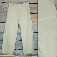 womens EUC Calvin Klein tan khaki utility pants relaxed carpenter bottoms size 3