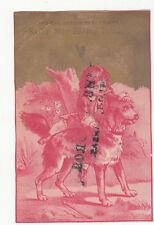 Silver Star Baking Powder Girl w Dog Kinsley Bros Beloit Kansas Vict Card c1880s