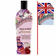 CHERRY ME BLACK TanFusion Tan Fusion Sun Bed Lotion Synergy 250ml FAST DELIVERY