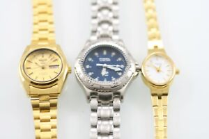 Seiko Automatic Caravelle Fossil Watch Women Stainless Steel Non-work Parts
