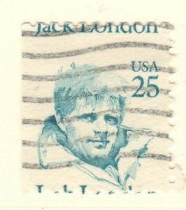 US EFO Scott #2197  25c Jack London single, major Mis-perf!