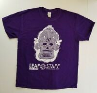 Leaf Music and Arts Festival L Large Staff T-Shirt Purple Skull New Orleans