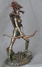 griechische mythologie,mythos,figur,medusa,bronziert,19x10cm,pfeil und bogen