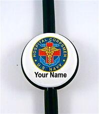 ID STETHOSCOPE NAME TAG US NAVY HOSPITAL CORPSMAN,MEDICAL, RN,ER,NURSE,DR.TECH,