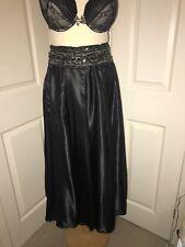 "Extreme Shine Full Circle Skirt Black Satin 32"" Waist CD TV Sissy B280"