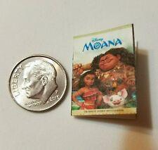 Miniature dollhouse Disney Princess book Barbie 1/12 Scale Moana movie C