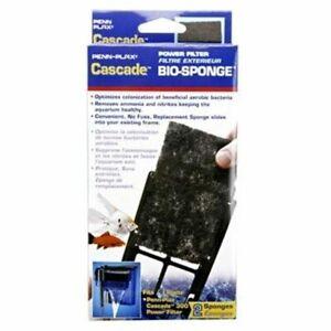 Penn Plax Cascade 300 Power Filter Replacement Bio-Sponge 2-Pack