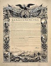 "Emancipation Proclamation Document 1863 Abraham Lincoln -17""x22"" Art Print-00208"