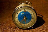 Vintage Sputnik Satellite Alarm Clock 1970's Diamond Wind Up, Super Rare #132