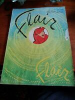 Vintage 1951 FLAIR MAGAZINE JANUARY FINAL New Year Guide to LONDON Issue