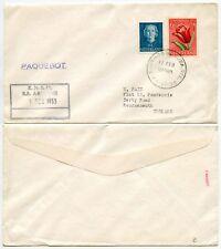 DUTCH WEST INDIES SANTIAGO CANCEL + PAQUEBOT KNSM 1953 SHIP ARIADNE..BOURNEMOUTH