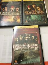 Pirates of The Caribbean 1, 2, 3 Trilogy Collection Blu-Ray 3 Movies + Bonus