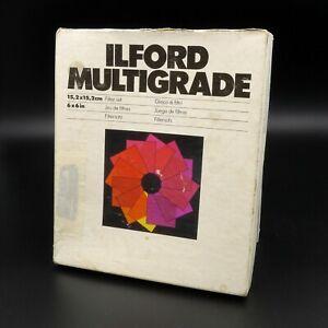 "Ilford Multigrade 12 Gelatin Filter Set 6"" x 6"" / 12.2cm x 15cm -used"