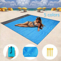"""55"""" x 79"""" Sand-Free Beach Mats Sand Proof Rug Picnic Blanket For Camping Outdoor"""