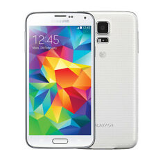 """Unlocked AT&T 5.1"""" Samsung Galaxy S5 G900A 16GB Android Smartphone RAM 2GB White"""