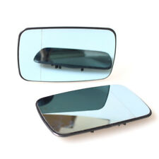 2Pcs ReView Split Mirror Heated Glass Blue for BMW E46 99-05 Sedan