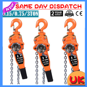 Quality 3M 9FT 750/1500/3000KG Chain Manual Hand Ratchet Winch Lift Pull Project