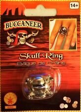 Rubie's Costume Co. Adjustable Skull Ring with Pewter Finish