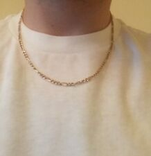 """14kt Yellow Gold Figaro Necklace Chain - 20"""" 14k Milor Brand Solid Gold !"""
