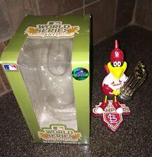 St. Louis Cardinals FREDBIRD 2011 World Series Trophy Mascot Bobblehead w/Box