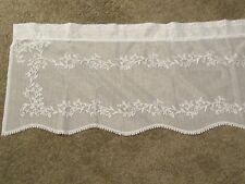 New Ivory Lace Sheer Divine design Valance 16L X 60W