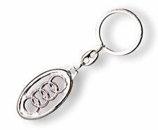 3D Metal Car Logo Keyring Keychain with AUDI Logo light weight exquisite look!!