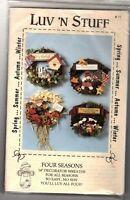 "Luv N Stuff - Four Seasons 14"" Decorator Wreaths For All Seasons Pattern/Pieces"