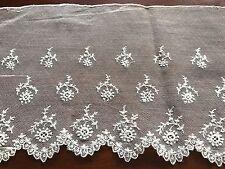 Antique Off White Tulle Lace Dress Flounce 4.9m X 16.5cm