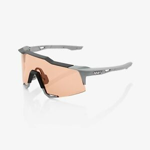 100% Percent Sunglasses SPEEDCRAFT - Soft Tact Stone Grey - HiPER Coral Lens
