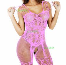 Women-Body-Stocking-Sexy-Lingerie-Sleepwear-Lace-Teddy-Dress Babydoll-Nightwear