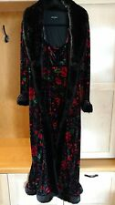 Vintage Betsey Johnson Velvet Duster and Matching Dress Size Large