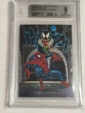 1992 Marvel Masterpieces Spider-man Vs Venom 4-D Beckett Graded BGS 9.0
