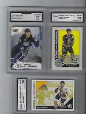 2007-08 STEVEN STAMKOS 3 CARD ROOKIE LOT UD & ITG GRADED GEM MINT 10 LIGHTNING