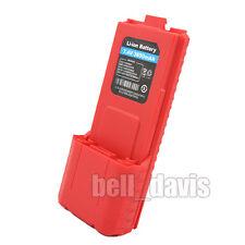2-099(R)  High Capacity 3600mAH 7.4V RED Battery For  BAOFENG RADIO U.V UV-5R