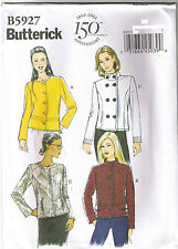 Easy Jacket Faux Leather Button Zipper Front Sewing Pattern Plus 14 16 18 20 22