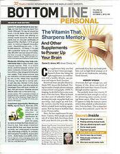 Bottom Line Personal October 1 2012 Memory/Car Crashes/Long Term Care
