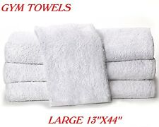 1 NEW WHITE IRREGULAR GYM TOWEL 13X44 WORKOUT EXERCISE FITNESS TOWEL COTTON