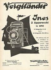 Y1286 Voigtlander Inos 2 apparecchi in uno - Illustrazione- Pubblicità 1931