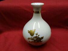 21 Vintage Heinrich H&Co Selb Bavaria Gold Flowers Mini Bulb Porcelain Bud Vase