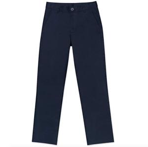 Nautica Husky Boys' Uniform Flat Front Pant, Navy, X-Large/20/Husky