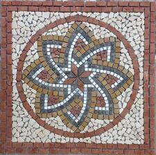 Rosone rosoni in marmo mosaico su rete 80x80 Cm spessore 1 cm