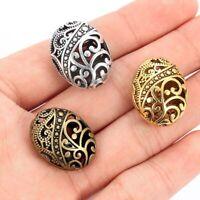 10X 2.2*1.7cm Ellipse shaped Hollow Spacer Beads Fit À faire soi-même Bracelet Bijoux Making