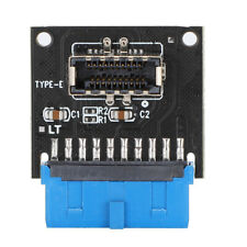 Motherboard Expansion Card USB3.0 19Pin to 3.1 Type-C Front Type-E Adapter 20Pin